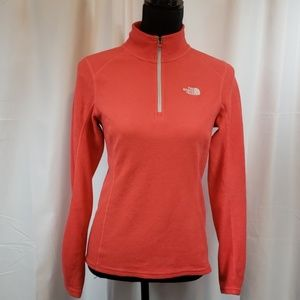 The North Face 1/4 zip pullover fleece size medium